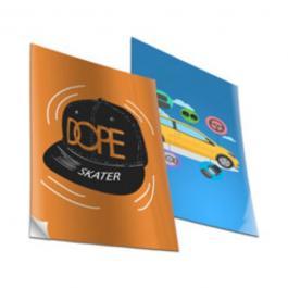 Adesivo de Papel Papel Sulfite 29,7x21cm (A4) Frente Fosco Corte Reto