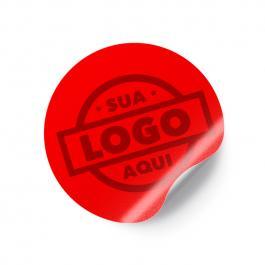 Adesivo de Papel Redondo 6cm Adesivo Papel Sulfite 6cm Frente Sem Verniz Corte Redondo