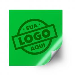 Adesivo de Vinil  2x2cm Tinta Eco Solvente 2x2cm Frente  Corte Reto