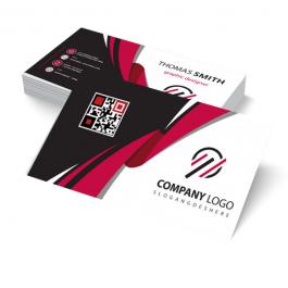 Cartão de visita Couchê 300g 9x5cm Frente e Verso Laminação Fosca com Verniz Localizado Corte Reto