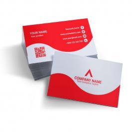 Cartão de visita 300g 9x5cm Frente e Verso Verniz Total Brilho Corte Reto