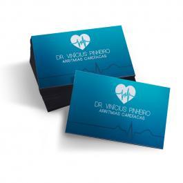 Cartão de Visita Colorido | Frente  9x5cm Frente Impressão Laser, Sem Verniz Corte Reto