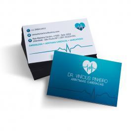 Cartão de Visita Colorido | Frente e Verso  9x5cm Frente e Verso Impressão Laser, Sem Verniz Corte Reto