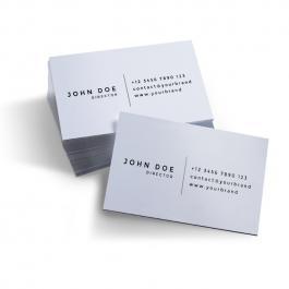 Cartão de Visita Preto e Branco  9x5cm Frente e Verso Impressão Laser, Sem Verniz Corte Reto