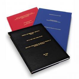Encadernação Capa Dura  21x29,7cm   Gravação (somente texto) na Capa e Lombada Até 300 folhas
