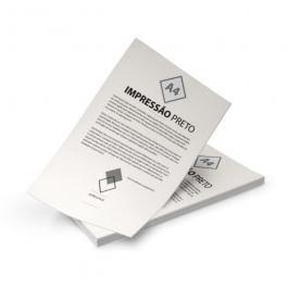 Impressão Preto e Branco A4 Papel Sulfite 75g 21x29,7cm Preto e Branco Sem Verniz Corte Reto