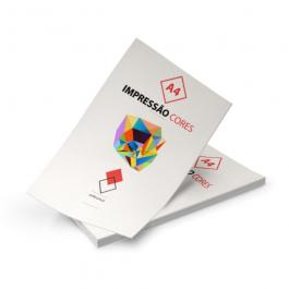 Impressão Colorida  A4 Papel Sulfite 75g 21x29,7cm Colorida Sem Verniz Corte Reto