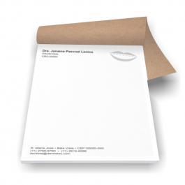 Receituário A5 Papel Sulfite 75g 21x14,8cm Preto e Branco