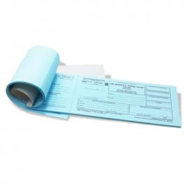 Receituário Controle Especial Azul 100 folhas, Papel Sulfite 75g (Papel Azul) 20x9cm Preto e Branco   Serrilha
