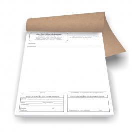Receituário Controle Especial Branco A5 100 folhas, Papel Sulfite 75g (Papel Branco) 21x14,8cm Preto e Branco
