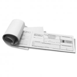 Receituário Controle Especial  Retinóides Sistêmicos 100 folhas, Papel Sulfite 75g (Papel Branco) 20x9cm Preto e Branco   Serrilha