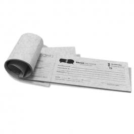Recibo Papel Reciclato 100 folhas, Papel Reciclato 75g 20x9cm Preto e Branco   Serrilha