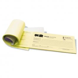 Recibo Papel Colorido 100 folhas, Papel Sulfite 75g (Papel Colorido) 20x9cm Preto e Branco   Serrilha