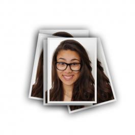 Revelação de Foto 3x4cm Papel Fotográfico 3x4cm Frente  Corte Reto